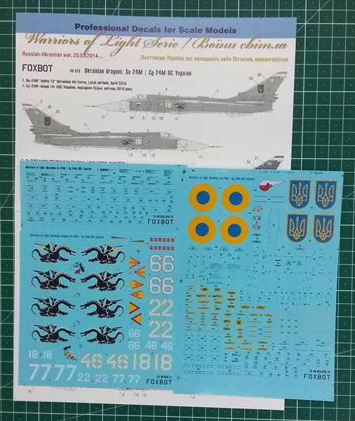 Foxbot Decals 1/48 Ukrainian Dragons: Sukhoi Su-24M # FBOT48028