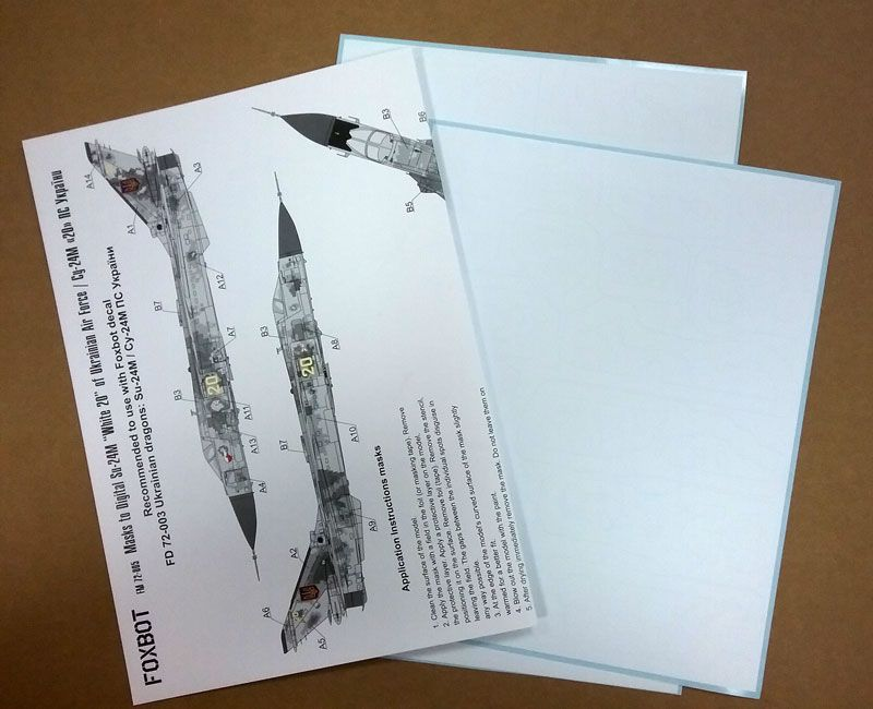 Foxbot Decals 1/72 paint masks for Ukrainian Dragons: Sukhoi Su-24M # FM72005