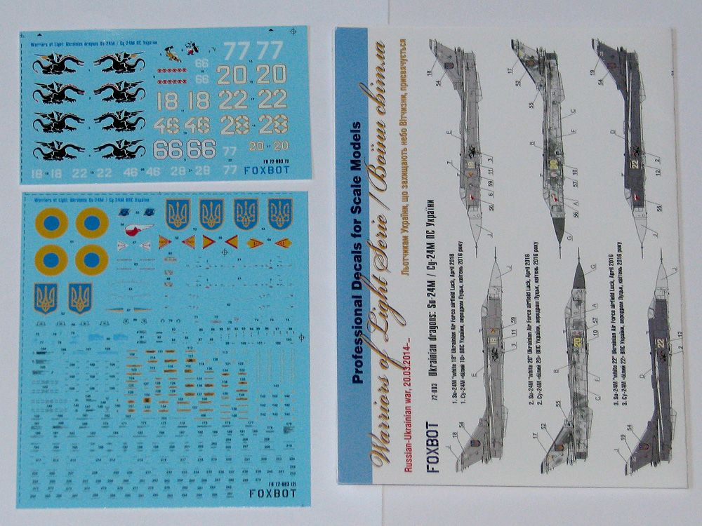 Foxbot Decals 1/72 Ukrainian Dragons: Sukhoi Su-24M # FBOT72003