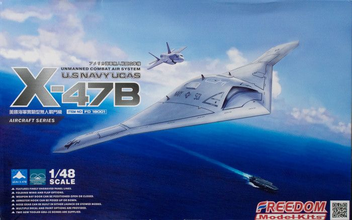 Freedom Models 1/48 X-47B U.S. Navy Unmanned Combat Air System # 18001