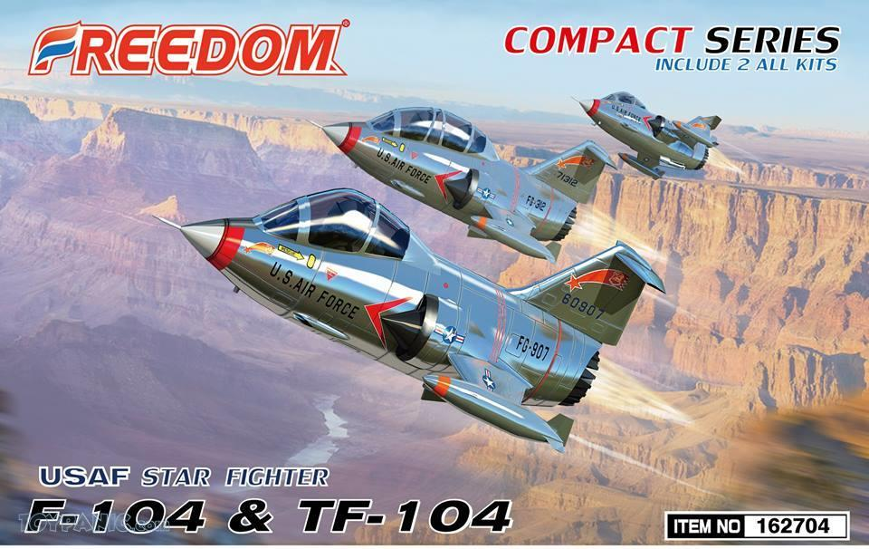 Freedom Models - Lockheed F-104 & TF-104 USAF Starfighter (2 kits in 1 box) # 162704