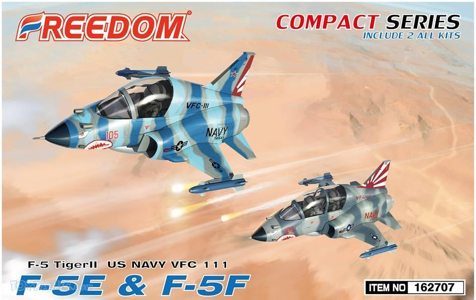 Freedom Models - Northrop F-5E & F-5F Tiger VFC-111 (2 kits in 1 box) # 162707