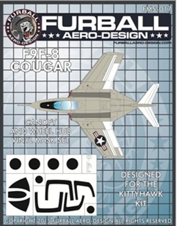 Furball Aero-Design 1/48 Canopy and Wheel Hub Masks for the Grum