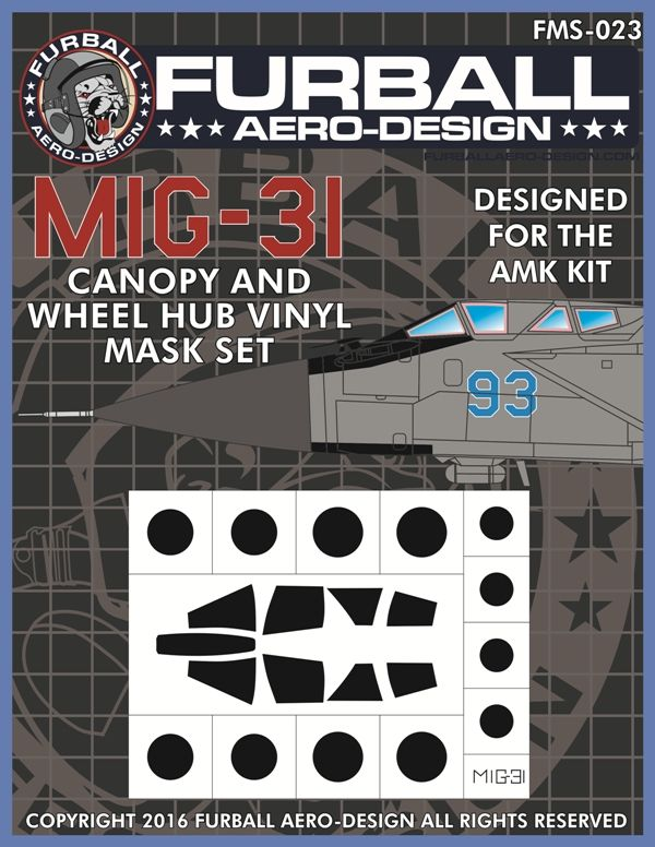 Furball Aero-Design 1/48 Mikoyan MiG-31BM Foxhound Canopy and Wh