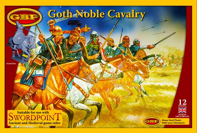 GBP 28mm Goth Noble Cavalry # 021