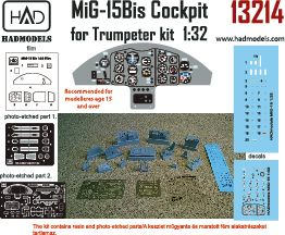 HAD Models 1/32 Mikoyan MiG-15 Cockpit Set # 132014