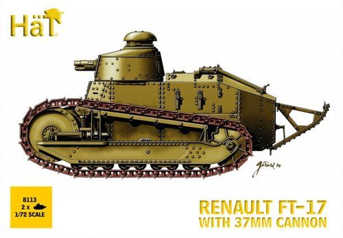 Hat 1/72 2 x Renault FT-17 with 37mm cannon WWI # 8113