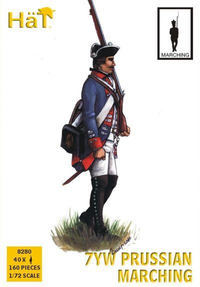 Hat 1/72 7 Years War: Prussian Marching # 8280