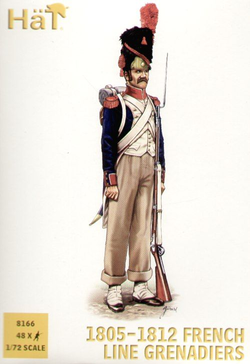 HaT 1/72 Napoleonic 1805-12 French Line Grenadiers # 8166