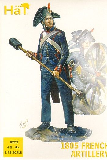 HaT 1/72 Napoleonic 1805 French Artillery # 8229