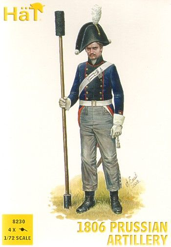 Hat 1/72 Napoleonic 1806 Prussian Artillery # 8230