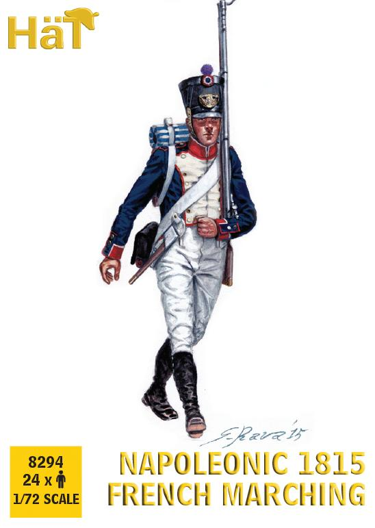 Hat 1/72 Napoleonic 1815 French Marching # 8294