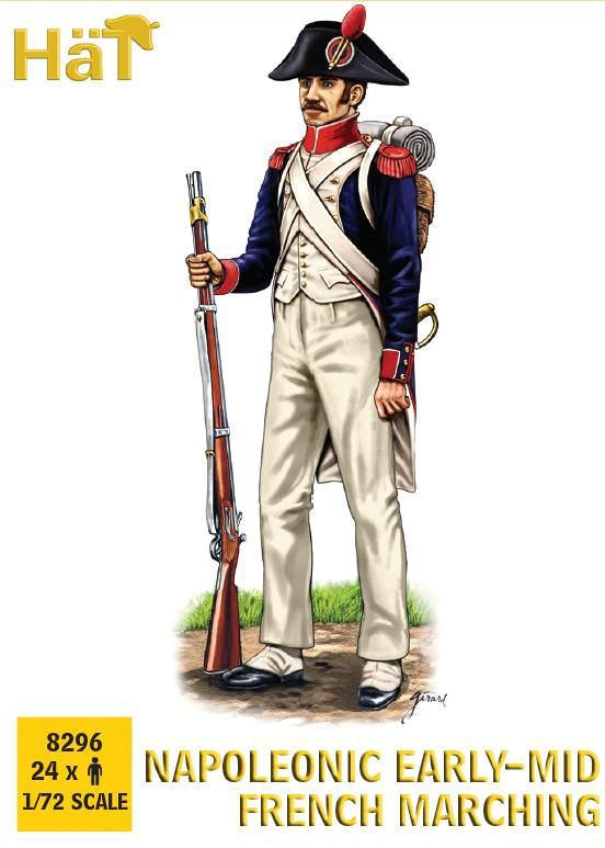 Hat 1/72 Napoleonic Early-Mid French Marching # 8296