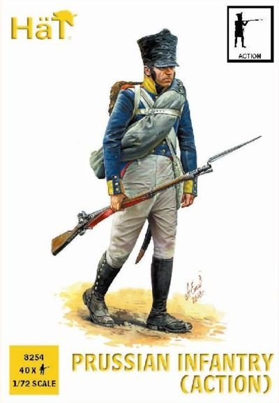 HaT 1/72 Napoleonic Prussian Infantry (Action) # 8254