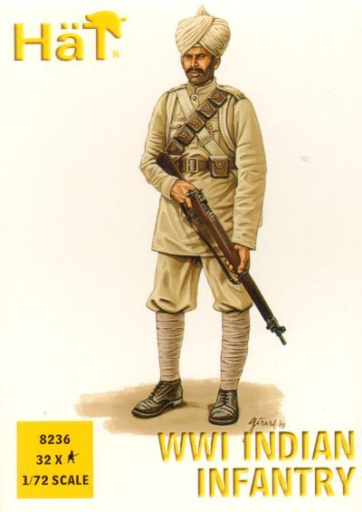Hat 1/72 WWI Indian Infantry # 8236