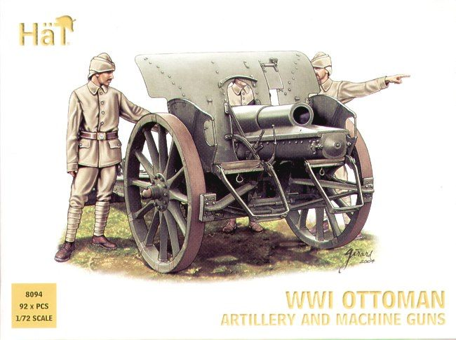 HaT 1/72 WWI Ottoman Artillery and Machine Guns # 8094
