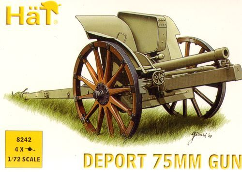 Hat 1/72 WWI/WWII Italian Deport 75mm Gun # 8242