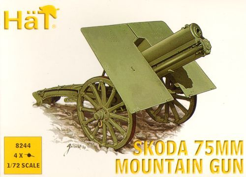 HaT 1/72 WWI/WWII Skoda 75mm Mountain Gun # 8244