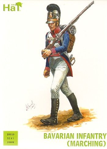 Hat 28mm Bavarian Infantry (Marching) # 28010