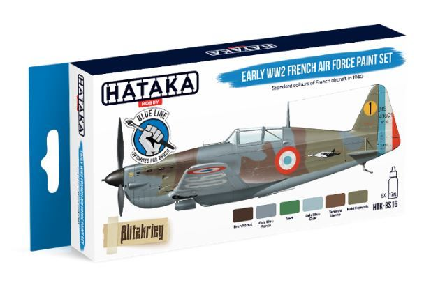 Hataka - Early WWII French Air Force Acrylic Paint Set # HTK-BS16