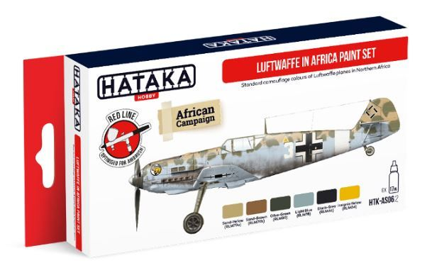 Hataka - Luftwaffe in Africa Acrylic Paint Set # HTK-AS06.2