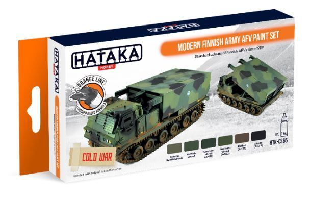 Hataka - Modern Finnish Army AFV Lacquer Based Paint Set # HTK-CS65