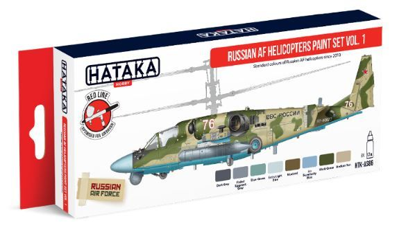 Hataka - Russian AF Helicopters Vol. 1 Acrylic Paint Set # HTK-AS86