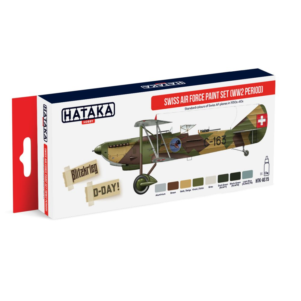 Hataka - Swiss Air Force (WWII Period) Acrylic Paint Set # HTK-A