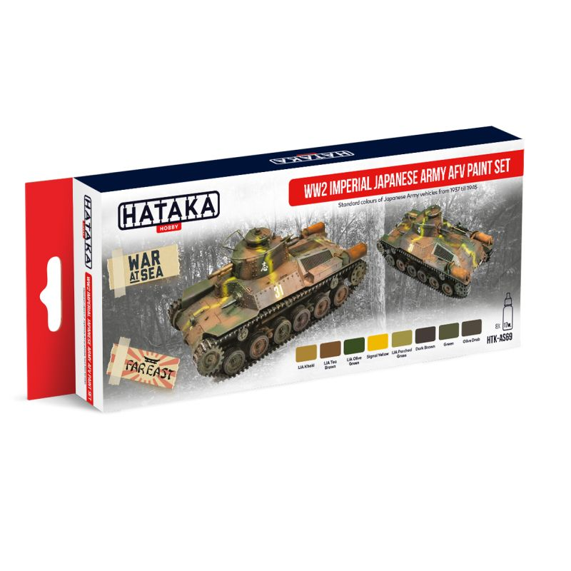 Hataka - WWII Imperial Japanese Army AFV Acrylic Paint Set # HTK-AS69