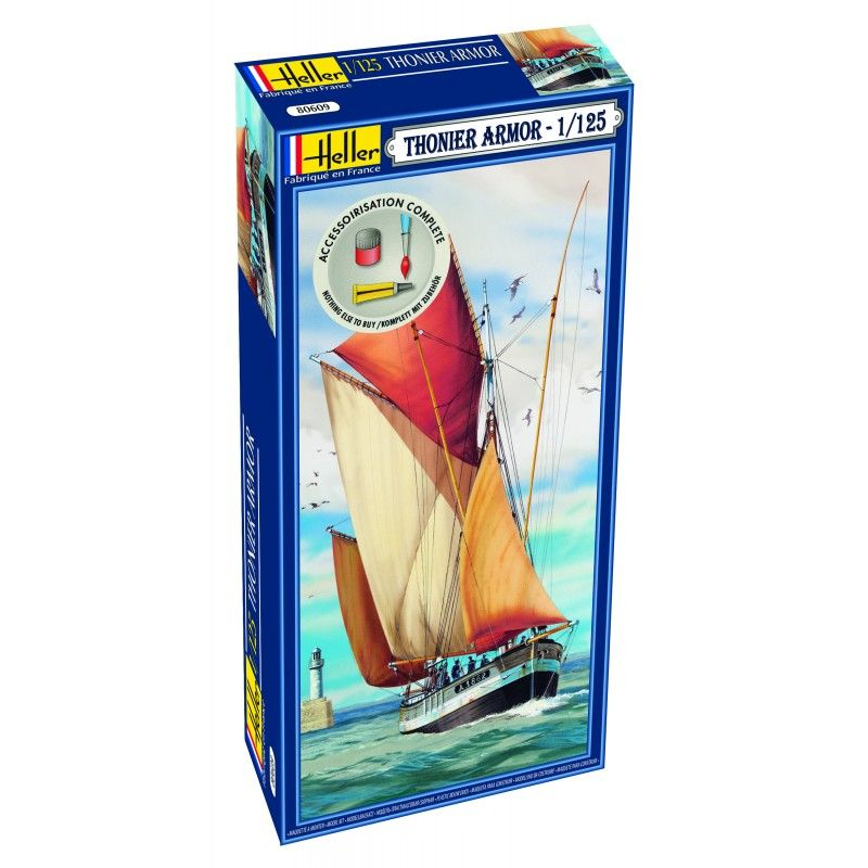 Heller 1/125 Thonier Armor Sailing Ship Gift Set # 56609
