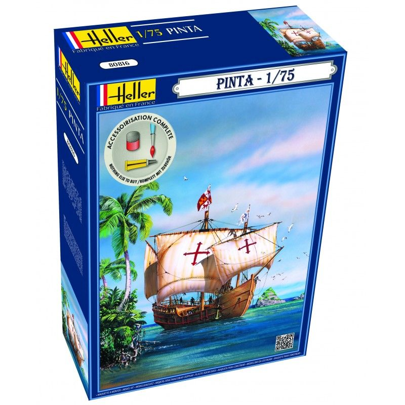 Heller 1/75 Pinta Sailing Ship Gift Set # 56816