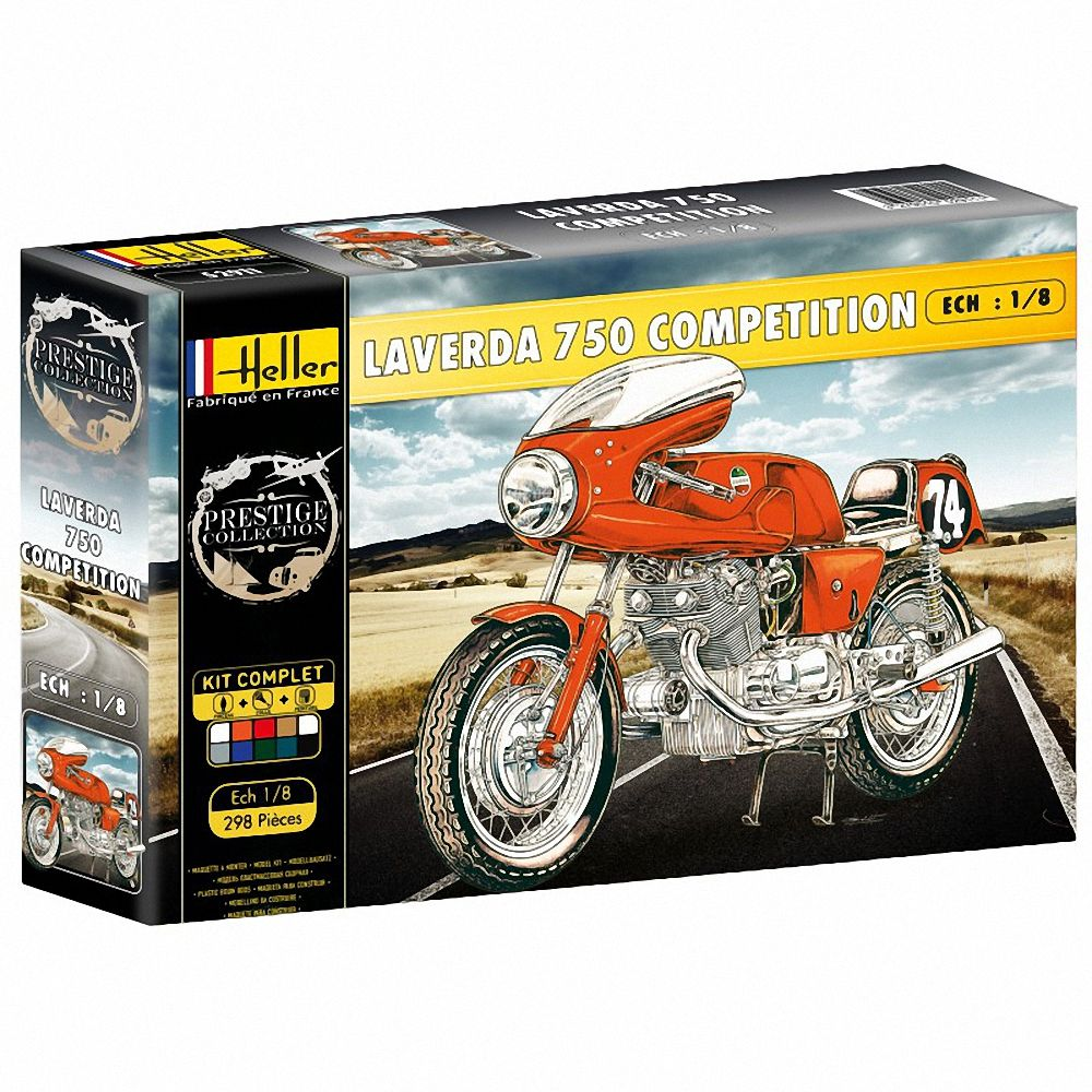 Heller 1/8 Laverda 750 Competition Gift Set # 52911G