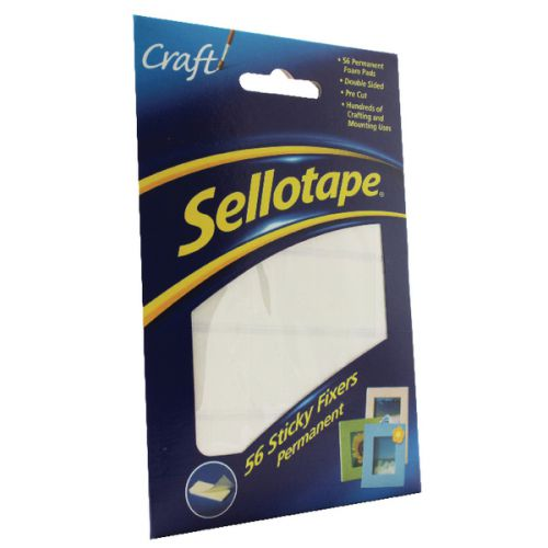 Henkel Sellotape - Pack of 56 Permanent Sticky Fixers Foam Pads # 2201445423