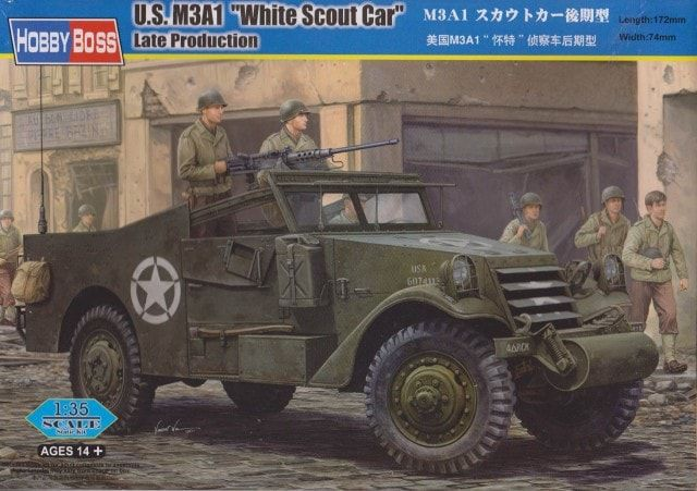 Hobbyboss 1/35 M3A1 White Scout Car Late Production # 82452