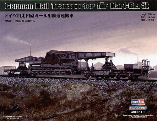 HobbyBoss 1/72 Rail Transporter for Karl-Geraet # 82906