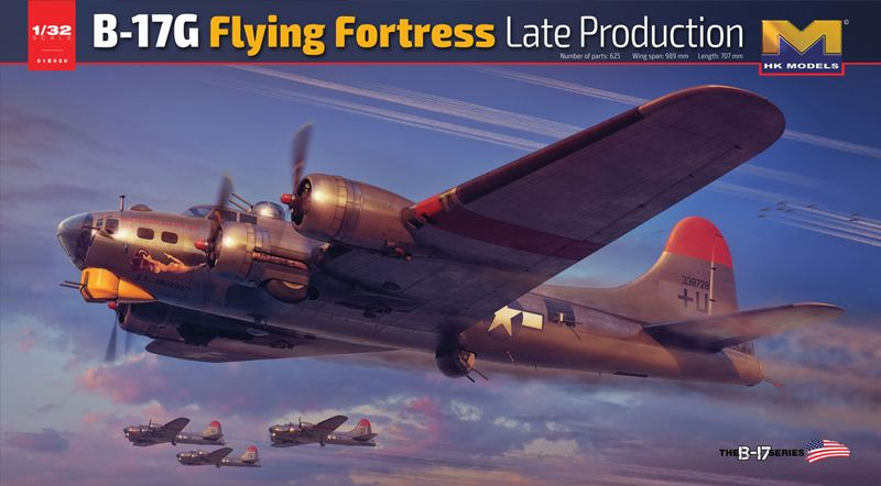 Hong Kong Models 1/32 Boeing B-17G Flying Fortress Late Production # 01E30
