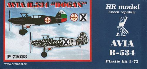 HR Model 1/72 Avia B-534 Dogan # P72028