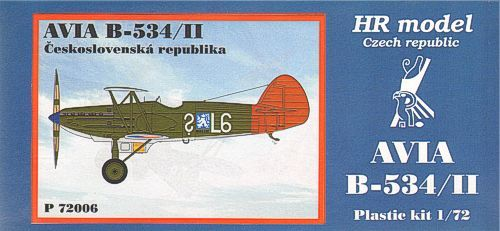 HR Model 1/72 Avia B-534/II Czechoslovak # P72006