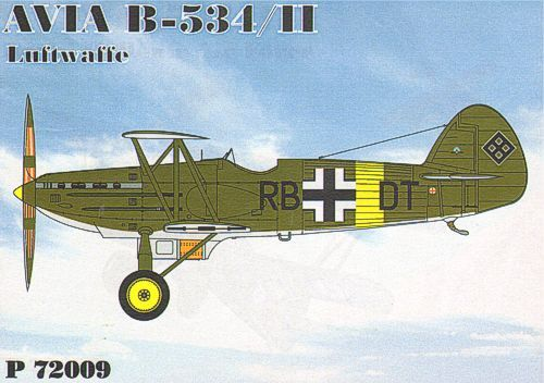 HR Model 1/72 Avia B-534/II Luftwaffe # P72009