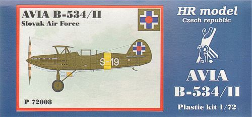 HR Model 1/72 Avia B-534/II Slovak Air Force # P72008