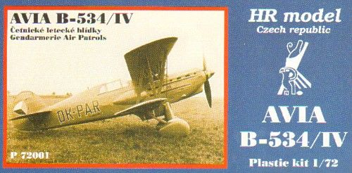 HR Model 1/72 Avia B-534/IV Gendarmerie Air Patrols # P72001