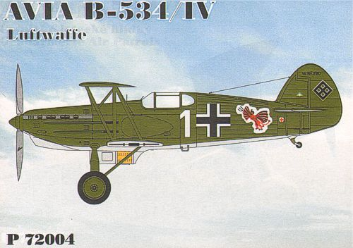 HR Model 1/72 Avia B-534/IV Luftwaffe # P72004
