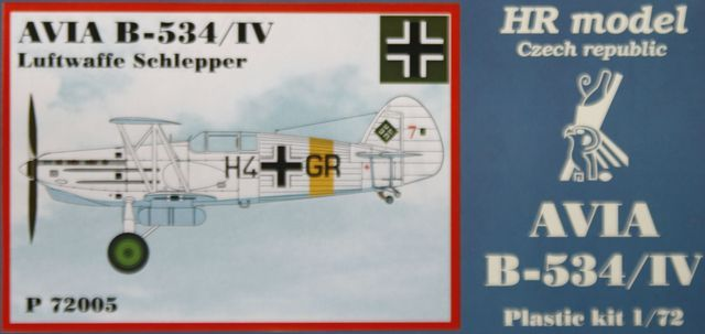 HR Model 1/72 Avia B-534/IV Luftwaffe Schlepper # P72005