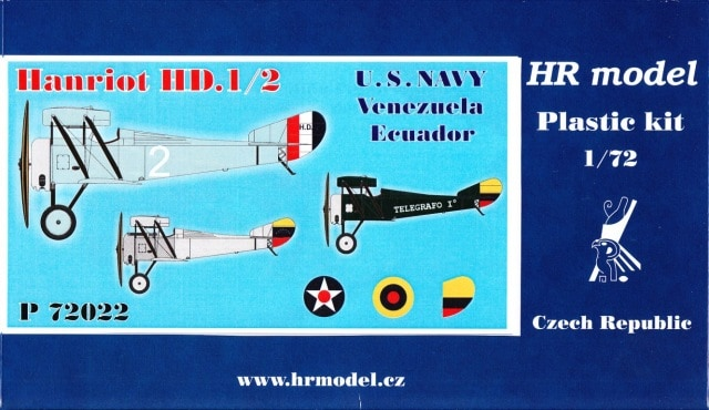 HR Model 1/72 Hanriot HD.1/2 # P72022