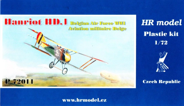 HR Model 1/72 Hanriot HD.1 Belgian Air Force WWI # P72011