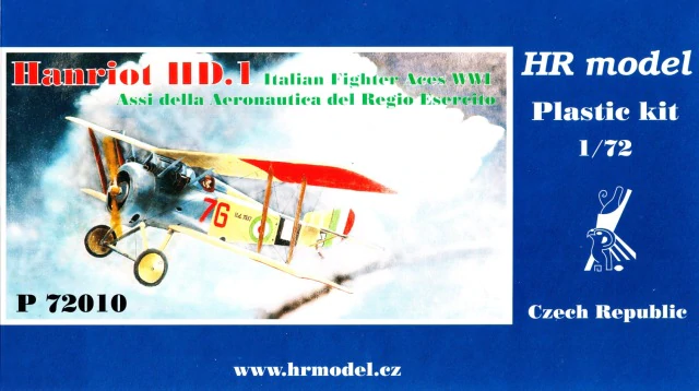 HR Model 1/72 Hanriot HD.1 Italian Fighter Aces WWI # P72010