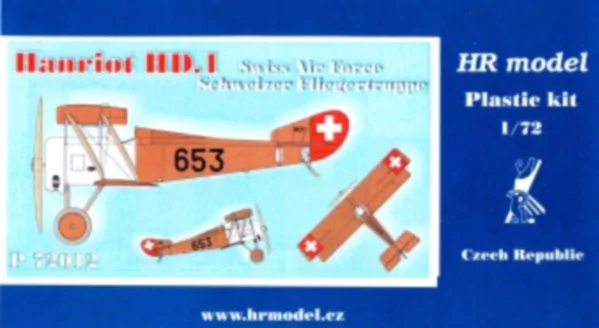 HR Model 1/72 Hanriot HD.1 Swiss Air Force # P72012