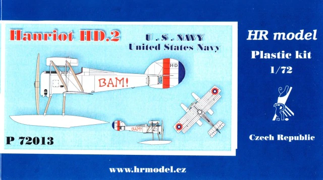 HR Model 1/72 Hanriot HD.2 Floatplane US Navy # P72013