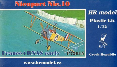 HR Model 1/72 Nieuport Nie. 10 France & RNAS Early # P72015
