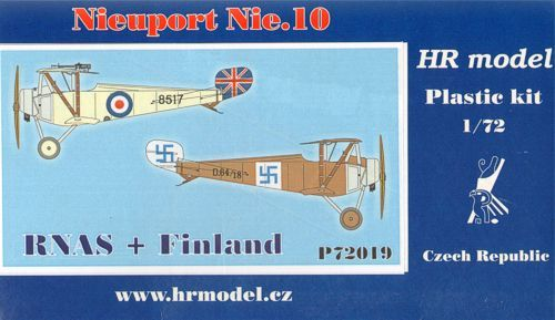 HR Model 1/72 Nieuport Nie. 10 RNAS & Finland # P72019